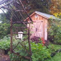 The other corner of the Potager.